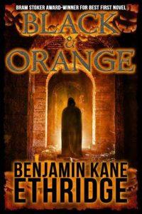 black and orange book cover